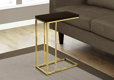 Monarch Specialties I 3235 Accent Table Cappuccino Gold Metal