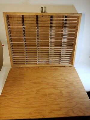 Napa Valley Box Company 100 Slot Cassette Tape storage with homemade lid