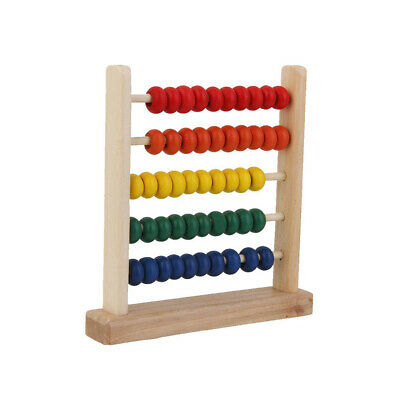 Wooden Bead Abacus Counting Number Kids Preschool Math Learning Teaching Toy