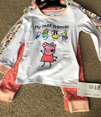 M&S Marks And Spencer Peppa Pig Pyjamas 2 Pairs 18-24 Months Candy Zoe Rebecca