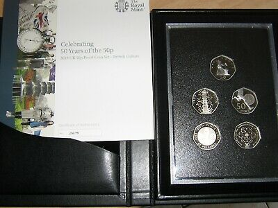 Celebrating 50 Years Of The 50p, 2019 UK Proof Coin Set Kew Gardens