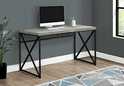 "Monarch Specialties I 7451 Computer Desk 48""L Grey Reclaimed Wood Black Metal"
