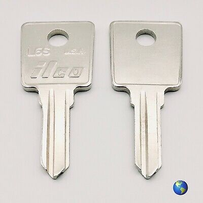 L6S Key Blanks for Various Products by Hafele and L.A.S. (2 Keys)