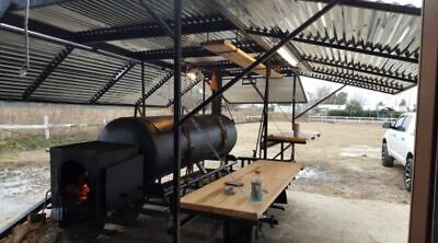 2017 - 16' Open BBQ Smoker Concession Trailer / Used Tailgating Trailer for Sale