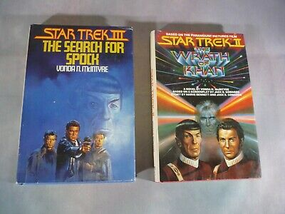"Lot 2 HC Star Trek Books ""The Wrath of Khan 1982"" ""The Search For Spock 1984"""