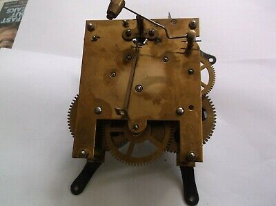 MECHANISM  FROM AN OLD  MANTLE CLOCK ELEPHANT LOGO working order ref VX99