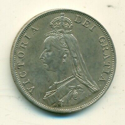 Great Britain Double Florin 1889 EF