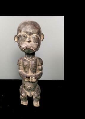 Old Tribal Fang Reliquary Figure     -  Gabon