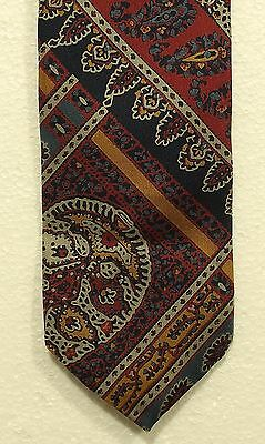 74677fab3f28 vintage LIBERTY OF LONDON paisley silk tie made in England skinny width  3.00