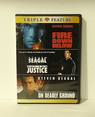 Fire Down Below/Out For Justice/On Deadly Ground (DVD, 2-Disc Set) Steven Seagal