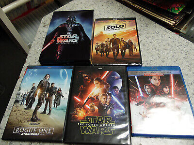 Star Wars:1,2,3,4,5,6,7,8 Complete Saga (DVD/Blu Ray,12-Disc Set)Rogue one,Solo