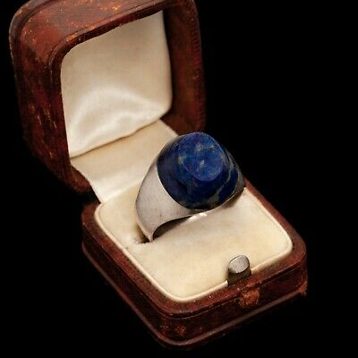 Antique Vintage Deco Mid Century Sterling 925 Silver TAXCO Sodalite Ring Sz 9.25