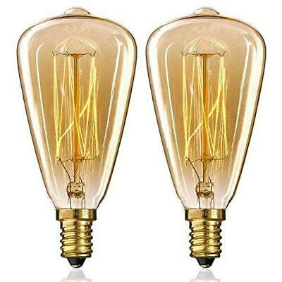 E14 Vintage Edison Light Bulb, Small Screw Filament Bulb 40W Retro Antique...