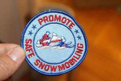 Vintage Promote Safe Snowmobiling Sew On Patch Racing Team Uniform