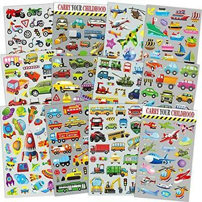 Transportation Stickers for Kids 12 Sheets with Cars, Airplane, Train ,...
