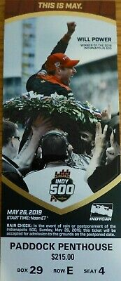 2 Tickets To The Indianapolis 500 Paddock Penthouse 2019
