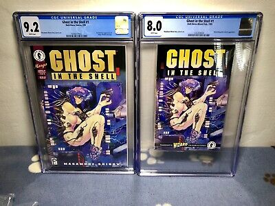 Ghost in the Shell #1 & Ashcan Edition CGC Lot 1995 Dark Horse Wizard
