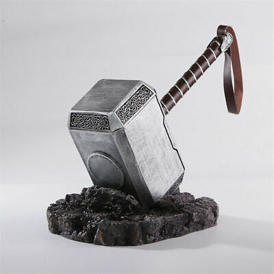 THE Avengers Full Solid 1:1 Thor Hammer /Stand Base Replica Cosplay Prop Mjolnir
