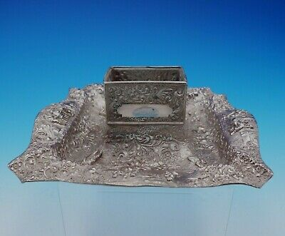 Barbour International Silverplate Ashtray with Match Holder #3285 Figural #3373