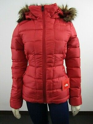 NWT Womens The North Face TNF Gotham Hooded Down Winter Jacket Insulated - Red