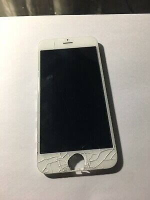 Iphone 6s Cracked Glass Screen Original Working Lcd Touch White
