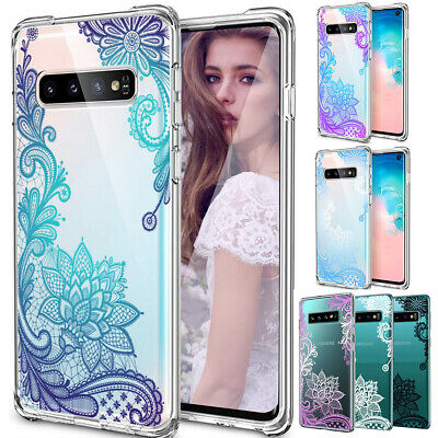 Crystal Clear Lace Mandala Case Slim Cover for Samsung Galaxy Note 10+ S10 Plus