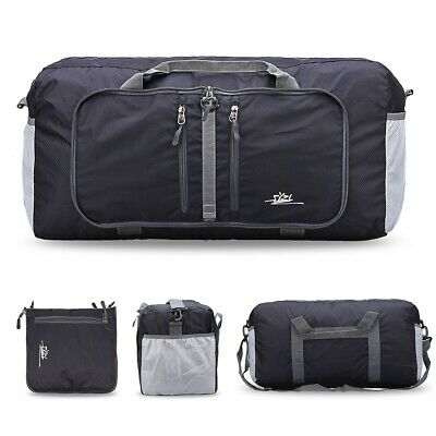 Luxury 40L Foldable Sport Duffle Bag Packable Carry On Zipper Travel Holdall Bag