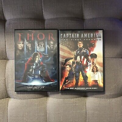 Thor and Captain America: The First Avengers Dvd
