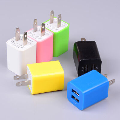 US plug USB charging 2port wall home travel AC charger adapter for smart-phone&T