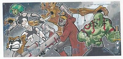 2017 Upper Deck Guardians of the Galaxy 3 Card/Panel Sketch by ERNEST ROMERO 1/1