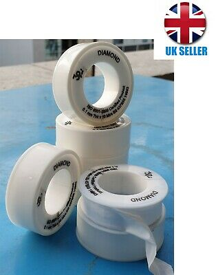 10 X Thread Sealant PTFE Tape Pipe Sealant for Plumbers Plumbing, 1mm Thick