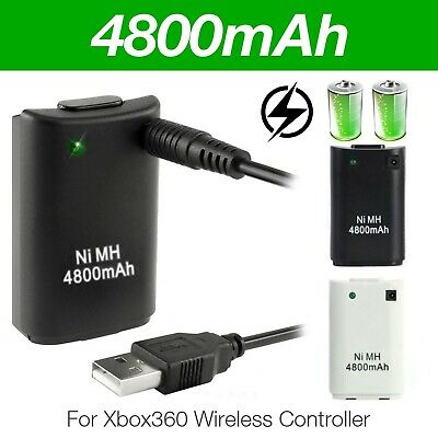 New Rechargeable Battery Pack For Xbox 360 wireless Controller With Charge Cable