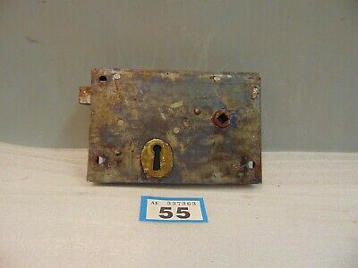 Antique  Brass And Steel Rim Door Lock  55