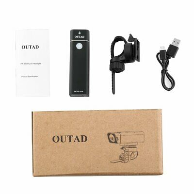 OUTAD 300LM Bicycle Front Light Bike Flashlight Torch 4 Modes IPX6 Waterproof