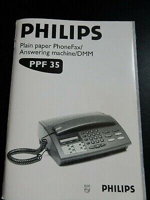 Philips Phillips Telephone Fax Answering Machine Instruction Manual PPF35 PPF-35
