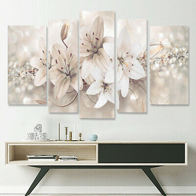 5Pcs Abstract Flower Canvas Print Art Painting Wall Picture Modern Home Decor 1