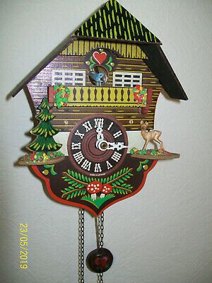 Antique Swiss Chalet Style German Cuckoo Clock in working order