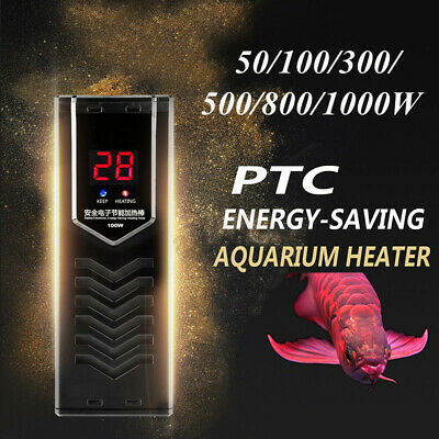 50-1000W PTC Adjustable Aquarium Fish Tank Submersible Water Heater Thermostat !