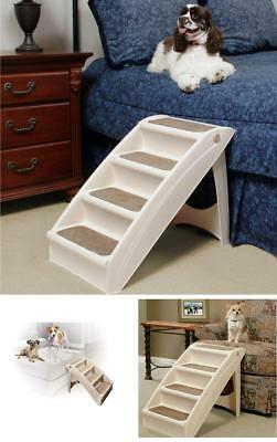 Pet Dog Folding Stairs High Ramp Steps Portable Ladder For Bed Couches Car Large