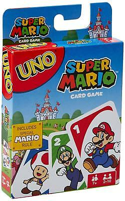 UNO Super Mario Card Game  Classic Matchin Family Party Kids Child Fun Gift Set