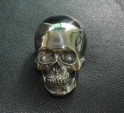 White Copper Human Skull Mens Belt Buckle Brass Lost Wax casting polished Gift