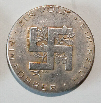 Adolf Hitler / Germany / WW2 Exonumia Medal