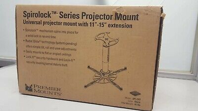 "Premier Mounts SpiroLock Projector Mount With 15"" Extension 123998/5"