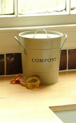 Garden Trading Clay Kitchen Compost Bucket - Compost Bucket ideal For Worktop
