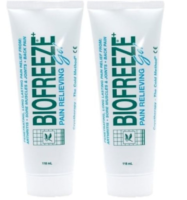 2 x BIOFREEZE PAIN RELIEF Gel, muscle aches- 4oz /118ml **FREE UK Delivery