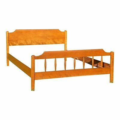 Vintage Ethan Allen American Traditional Full Double Bed Solid Maple / Birch
