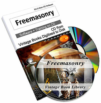 Freemasons 461 Rare Books on DVD - Ancient Masonic Secret Rituals Medal Badge 48