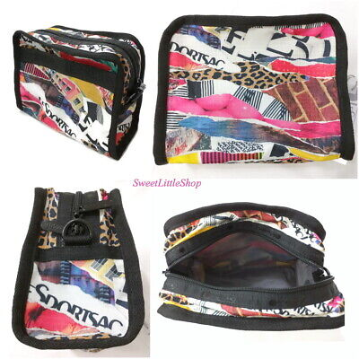 bbdcc9a61305 New LeSportsac Taylor North South Cosmetics Case Pouch Bag Color Y2K COLLEGE