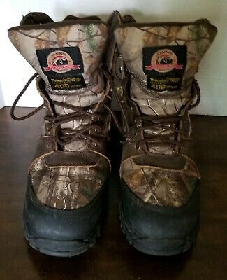 575dc9d2752f6 Brahma Mens Boots Size 9 Nine Point Camo Thinsulate Leather Upper Hunt,  Hiking