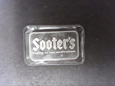 "1 Oz. Johnson Matthey ""Sooter's"" Silver Bar Sealed # S25759 .999 Fine"
